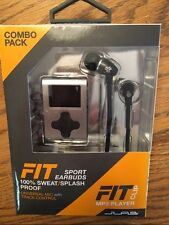 JLAB ECLIPSE MP3 FITNESS BUNDLE FIT SPORT EARBUDS NEW 100% SWEAT SPLASH PROOF