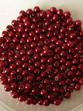 4mm Glass Faux Pearls strand - Dark Red (200+ round beads) jewellery making