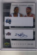 04/05 UD Trilogy Lebron James Dwight Howard Combo Clear Cuts Auto #/25 Error