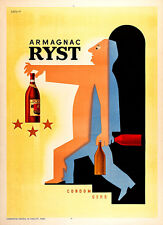 Armagnac Ryst 1941 Vintage French Poster A2 Art Print