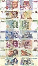 Italia 7 Banconote: 500000,100000,50000,10000,5000,2000,1000 lire(Riproduz/copy)