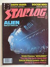 Starlog Magazine #23 June 1979 Alien Movie - Darth Vader Interview (M642)