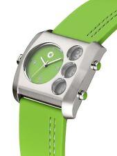 orig smart unisex Arm band uhr electric drive grün silberfarben Silikon Armband