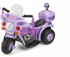 NEW Kids 6v Ride on Electric Bike PRINCESS Lilac Outdoor Indoor Toy Toys