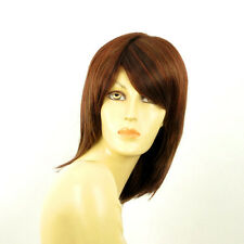 mid length wig women brown copper wick light blond and red ref 33h AXELLE PERUK