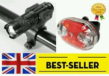 front zoomable rear 9 led lights set-bright flashing white red lamp light bike