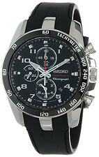 Seiko Sportura Alarm Chronograph Men's Watch SNAE87 Rubber Strap