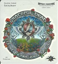 GRATEFUL DEAD STICKER DECAL BUMPERSTICKER STEAL YOUR FACE FORTY YEARS 1965-2005