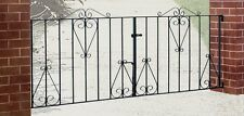 CLASSIC19 Scroll Driveway Gates 3048mm (10ft) GAP x 914mm High Metal Iron Steel
