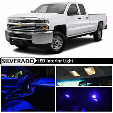 14x Blue Interior LED Light Package Kit for 2007-2013 Chevy Silverado + TOOL