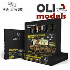 VEHICLE WEATHERING & EFFECTS Oil Paint Set 6x20ml Tubes - Abteilung 502 ABT302