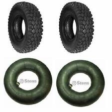 (2 New) 4.10/3.50-4 Tires and 2 New Tubes for Go cart Go Kart Minibike Parts