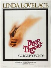 DEEP THROAT French Grande movie poster 47x63 LINDA LOVELACE HARRY REEMS 1972