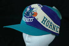 VTG NBA Charlotte Hornets Large Logo Embroidered Snapback Hat by Twins Ent NWT
