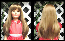 "DOLL Wig, Monique ""Lorie"" Size 19 1/2 in LT STRAWBRY BLONDE for Patti Playpal"