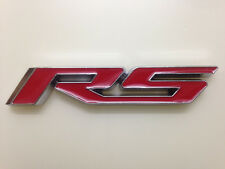 Auto Car Metal Red Chrome RS for Chevrolet Audi Emblem Badge Decal Sticker