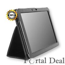 Case for Samsung Galaxy Note 10.1 Case 2014 Edition P600 P601 Black Book Cover