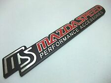 Emblem Aluminum Trunk Badge STICKER 3D LOGO For MS Mazdaspeed