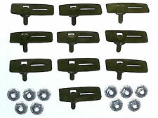NOS Ford Lincoln Mercury Body Side Trim Moulding Molding Clips & Nuts 10pcs I