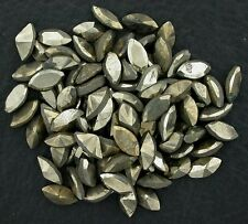FOUR 8x4 8mm x 4mm Marquise Faceted Facet Natural Pyrite Gem Gemstone ebs3628