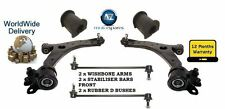 FOR MAZDA 5 1.8 2.0 05-10 2 WISHBONE ARMS + 2 FRONT STABILISER BARS + 2 D BUSH