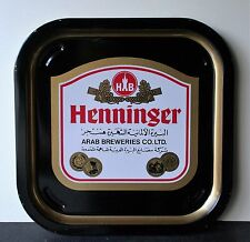 HENNINGER Arab Breweries Company Ltd Vintage Advertising Pub Bar Beer tray