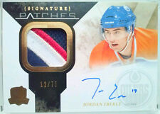 wOw! /75 JORDAN EBERLE THE CUP SIGNATURE ROOKIE PATCHES AUTO UD 2010 10 11 jsy