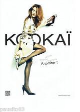 PUBLICITE ADVERTISING 086  2012  Kookai  pret a porter femme chaussures impermé