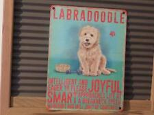 FABULOUS METAL WALL SIGN PLAQUE * LABRADOODLE * DEPICTING DOG BREED*CHARACTER
