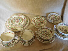 30 Mixed PIECES Vtg.ALFRED MEAKIN THE INDIA TREE HAND PAINTED Medina Shape CHINA