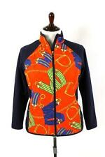womens red equestrian riding print RALPH LAUREN full zip jacket quilted PLUS 1X
