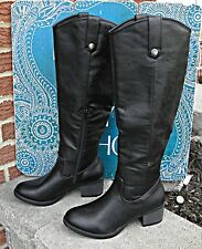 RAMPAGEItalie Knee High Boots Black Size 6 Medium 18 inches high Mint Condition