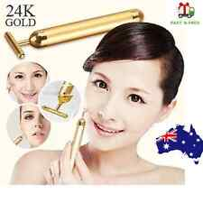 24K Gold Beauty Bar Vibration Skin Care Facial Face Wrinkles Massage WaterProof