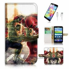 Samsung Galaxy S5 Flip Wallet Case Cover! P2161 Hulk Ironman