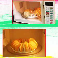 Microwave Vegetable Fruit Apple Potato Crisp Chip Slicer Snack Maker Tray DIY EX