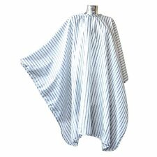 Old Fashion Hair cutting barber cape. Black & White stripes. Traditional by DMI