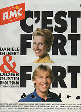 Publicité Advertising 1990  ///   radio RMC  danièle gilbert  &  didier gustin