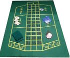 REVERSABLE BLACK JACK AND ROULETTE FELT / BAIZE LAYOUT