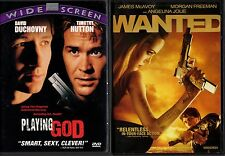 PLAYING GOD & WANTED- 2 movies-ANGELINA JOLIE involved in underworld of murder