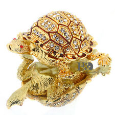 Beetles Crystal Metal Trinket Boxes Animal Figurines Jewelry Collectibles Gifts
