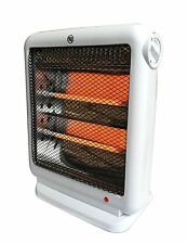 Quartz Radiant Heater Electric Portable Personal Space Energy Efficient White