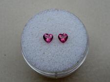 Pink Topaz Heart Gem Pair 4mm