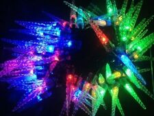 100 LED Multicolour Icicle Christmas Lights 8 Multi-function 54.1ft / 16.5m