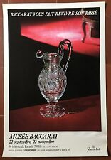Affiche Exposition BACCARAT Aiguière Charles X MUSEE BACCARAT *