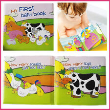Baby Bath Books Soft Waterproof Plastic Book For Kids Playing Educational Play