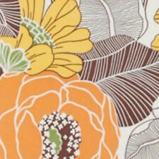 Vintage Original Orange Come On Get Happy Flower Wallpaper 1970s 1960s