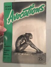AVOCATIONS June 1939: Sir Francis Seymour Haden, Pewter, Hill Billy Doll RARE!