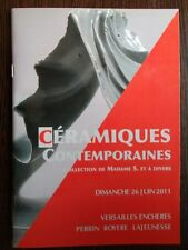 Catalogue de vente Design & Collection Ceramique Contemporaine Moderne