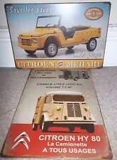 CITROEN HY 80 VAN & MEHARI PLAGE, SET OF 2 METAL SIGNS, 30X20cm SHED/ MANCAVE