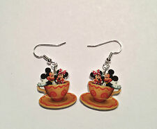 Mickey Mouse Earrings Minnie Mouse Teacup Ride Charms